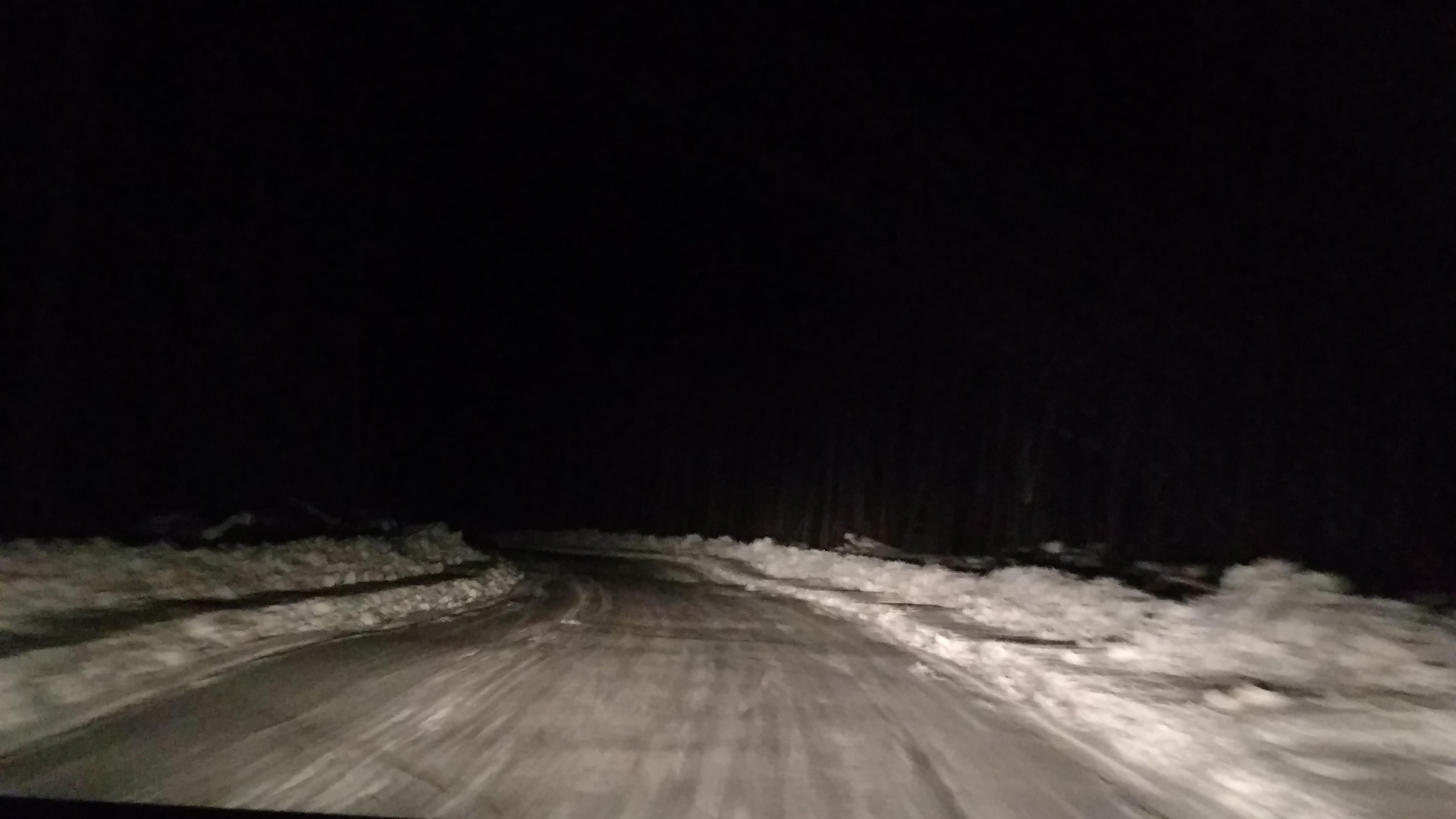 1-winter road at night 3-16