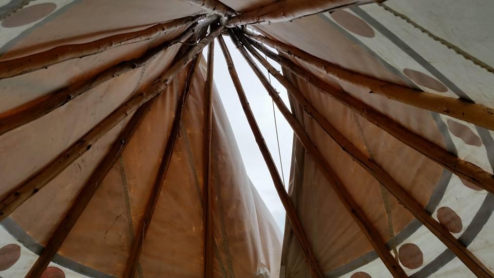 inside teepee