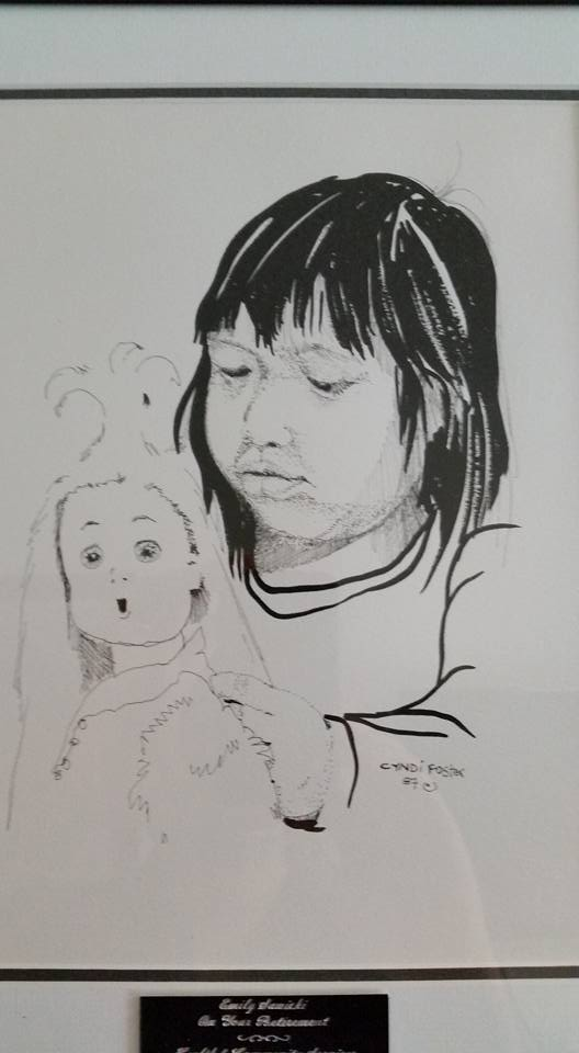 native girl and doll