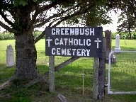 greenbush cemetery sign